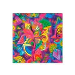 Colorful Floral Abstract Painting Satin Bandana Scarf
