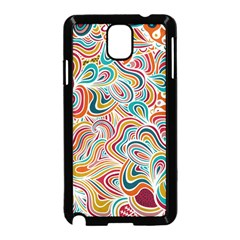 Doodle Patterns Samsung Galaxy Note 3 Neo Hardshell Case (Black)
