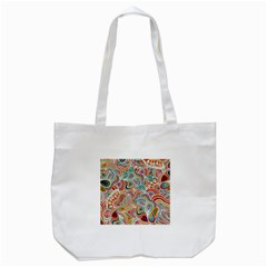 Doodle Patterns Tote Bag (White)