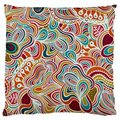 Doodle Patterns Standard Flano Cushion Case (One Side)