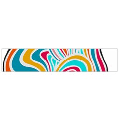 Doodle design Flano Scarf (Small)