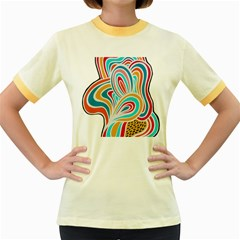 Doodle Pattern Women s Ringer T-shirt (Colored)