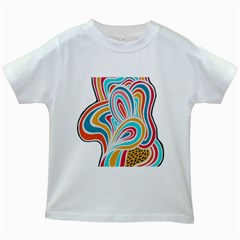 Doodle Pattern Kids T-shirt (White)