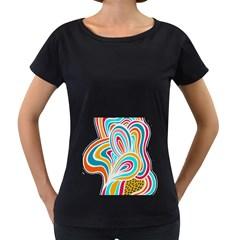 Doodle design Women s Loose-Fit T-Shirt (Black)