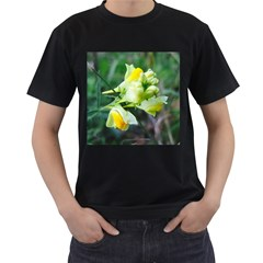 Linaria Flower Men s Two Sided T Shirt (black)