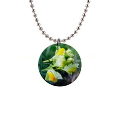 Linaria Flower Button Necklace
