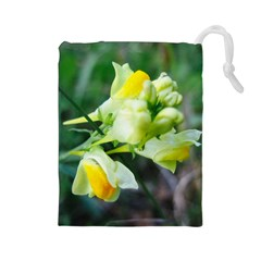 Linaria Flower Drawstring Pouch (Large)