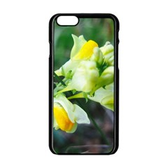 Linaria Flower Apple iPhone 6 Black Enamel Case