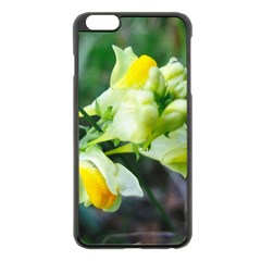 Linaria Flower Apple iPhone 6 Plus Black Enamel Case