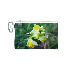 Linaria Flower Canvas Cosmetic Bag (small)