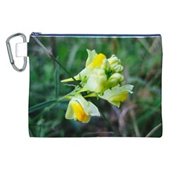 Linaria Flower Canvas Cosmetic Bag (xxl)
