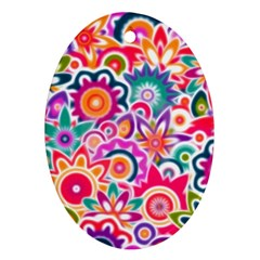 Eden s Garden Oval Ornament (two Sides)
