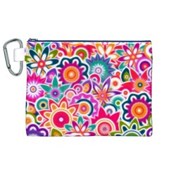 Eden s Garden Canvas Cosmetic Bag (XL)