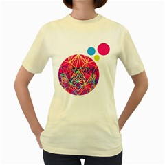 Triangulation Bubble 001 01 Women s T-shirt (Yellow)