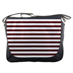 Marsala Stripes Messenger Bag