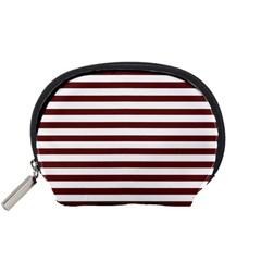 Marsala Stripes Accessory Pouch (small)