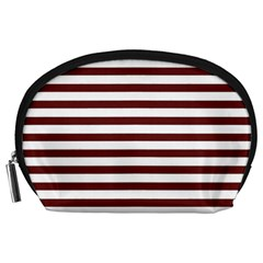 Marsala Stripes Accessory Pouch (Large)