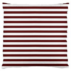 Marsala Stripes Standard Flano Cushion Case (Two Sides)