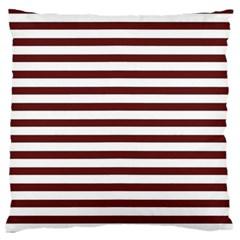 Marsala Stripes Large Flano Cushion Case (Two Sides)