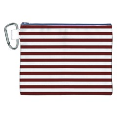 Marsala Stripes Canvas Cosmetic Bag (XXL)