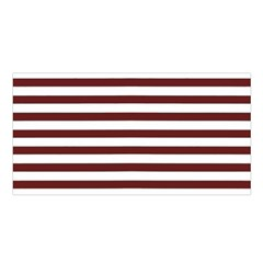 Marsala Stripes Satin Shawl