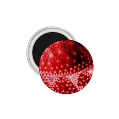 Red Fractal Lace 1 75  Button Magnet