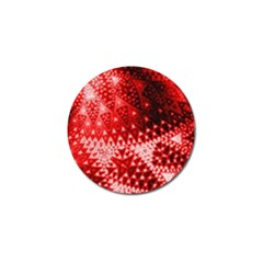 Red Fractal Lace Golf Ball Marker 10 Pack