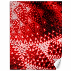 Red Fractal Lace Canvas 36  X 48  (unframed)