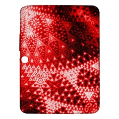 Red Fractal Lace Samsung Galaxy Tab 3 (10 1 ) P5200 Hardshell Case