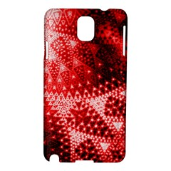 Red Fractal Lace Samsung Galaxy Note 3 N9005 Hardshell Case