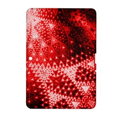 Red Fractal Lace Samsung Galaxy Tab 2 (10 1 ) P5100 Hardshell Case