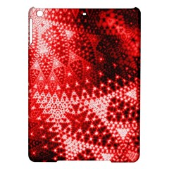 Red Fractal Lace Apple Ipad Air Hardshell Case