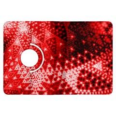 Red Fractal Lace Kindle Fire HDX Flip 360 Case