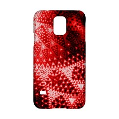 Red Fractal Lace Samsung Galaxy S5 Hardshell Case