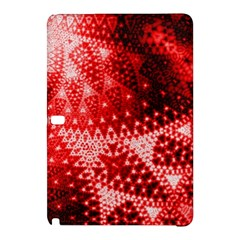 Red Fractal Lace Samsung Galaxy Tab Pro 10.1 Hardshell Case