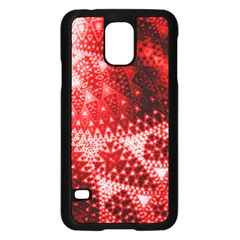 Red Fractal Lace Samsung Galaxy S5 Case (Black)