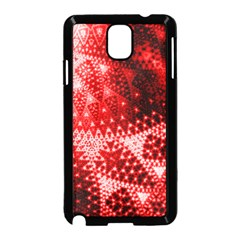 Red Fractal Lace Samsung Galaxy Note 3 Neo Hardshell Case (Black)