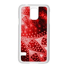 Red Fractal Lace Samsung Galaxy S5 Case (white)