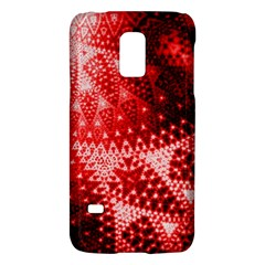 Red Fractal Lace Samsung Galaxy S5 Mini Hardshell Case