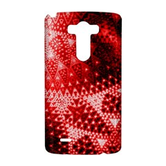 Red Fractal Lace LG G3 Hardshell Case