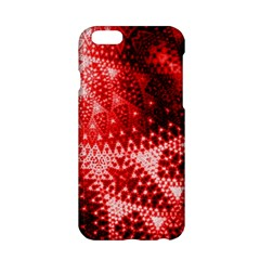 Red Fractal Lace Apple iPhone 6 Hardshell Case