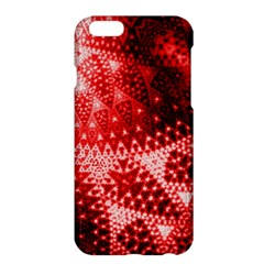Red Fractal Lace Apple iPhone 6 Plus Hardshell Case
