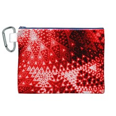 Red Fractal Lace Canvas Cosmetic Bag (XL)
