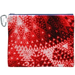 Red Fractal Lace Canvas Cosmetic Bag (XXXL)