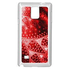 Red Fractal Lace Samsung Galaxy Note 4 Case (White)