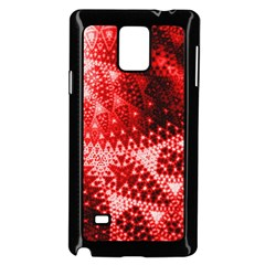 Red Fractal Lace Samsung Galaxy Note 4 Case (black)