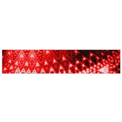 Red Fractal Lace Flano Scarf (small)