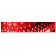 Red Fractal Lace Flano Scarf (Large)