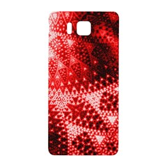 Red Fractal Lace Samsung Galaxy Alpha Hardshell Back Case