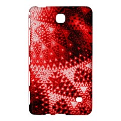 Red Fractal Lace Samsung Galaxy Tab 4 (7 ) Hardshell Case